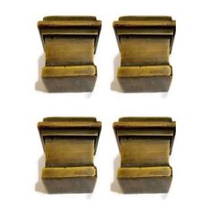 "4 large CUP solid Brass foot castors wheel chairs table old style castor 3.1//2/""B"