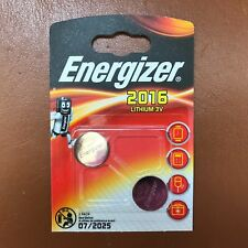 2 x Energizer CR2016 3 V Lithium Coin Cell Batteries PLUS LONGUE EXPIRATION-Pack de 2