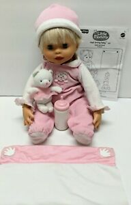 LITTLE MOMMY Real Loving Baby Doll Interactive Fisher Price 2007 Blanket Bottle