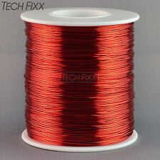 Magnet Wire 26 Gauge AWG Enameled Copper 1260 Feet Tesla Coil Winding 155C Red