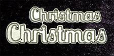 All Occasion Dies - Christmas Word Set of 2 Sizes-Metal Dies -Robert Addams #12