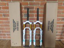 """Air Bike XC32A Air MTB Suspension Fork 26"""" Lockout 120mm 1-1/8 Steerer White"""