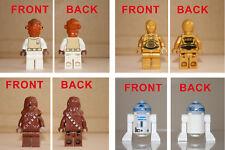 Lot Lego 4 minifigs Star Wars Ackbar+C3PO+Chewbacca+R2D2