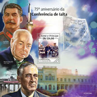 Sao Tome & Principe Stamps 2020 MNH WWII WW2 Yalta Conference Churchill 1v S/S