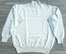 Mens MERINO WOOL CREAM TURTLENECK KNIT WOOL PULLOVER SWEATER CHEST
