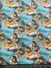 "Disney Jasmine + Raja Sketched Cotton Fabric 1/4 yard (9"" x 44"") SHIPS FAST"