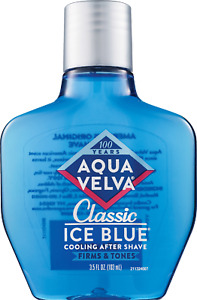 *1-Pack* Aqua Velva Classic Ice Blue Cooling After Shave Firms And Tones 3.5 Oz