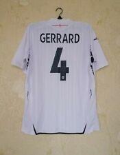 England national 2007 - 2009 home football shirt jersey Umbro size L #4 Gerrard