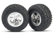 NEW Traxxas 5873 Tires/Wheels Assmbld Re Slash (2) *SHIPS FREE*