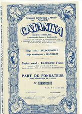 CATANIKA  Commerciale et Agricole du Tanganika