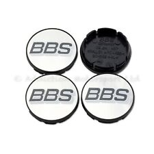 4x Genuine BBS Centre Caps, Chrome with Grey / White BBS Logo 56mm - 09.24.487
