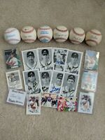 1995 Braves World Series Champions Autograph Balls and Cards Lot Glavine Justice