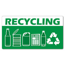Recycling Garbage Rubbish Bin Sticker Decal Safety Sign Car Vinyl #7421EN