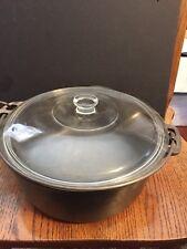 CAST IRON 5 Quart  VTG CAST IRON Dutch Oven, Bean Pot,  Kettle With  glass Lid