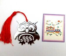 Thank you gift Teacher, Key Worker, Nursery Teacher etc Wise Owl Bookmark +card