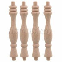 20PCS 84x18mm Wood Spindle Baluster Unfinished Spindles Rod Decoration