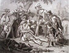 The Knight's Death Steel Engraving 1854 Charles C Nahl Ornaments of Memory