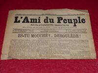 [PRESSE XIXe] MAXIME LISBONNE  L'AMI DU PEUPLE # 12 -2e S. JEU 12 MARS 1885 Rare