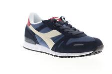 Diadora Titan II 158623-C7655 Mens Blue Suede Lace Up Low Top Sneakers Shoes