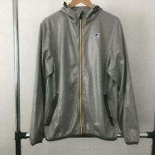 K-Way Long Sleeve Full Zip Men's Hooded Jacket Size Large L