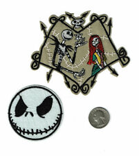 (2) patch lot Nightmare Before Christmas  SALLY & JACK SKELLINGTON patches