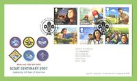 G.B. 2007 Scout Centenary set on Royal Mail First Day Cover Tallents House