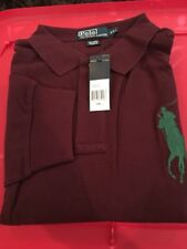 Men's Polo Ralph Lauren Long Sleeve Big Pony Burgundy 100% Cotton Shirt XXL.