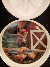 "Danbury Mint M J Hummel Gentle Friends Farm Boy 8"" Collector Plate"