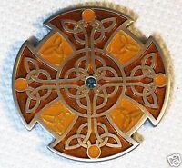 Celtic Knot - Antique Silver & Orange XLE - New Unactivated Geocoin