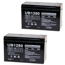 UPG 2 Pack - 12V 8AH SLA Battery Replaces ep1234w