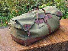 Vintage Gokey's Green Canvas Leather Large Duffle Bag Orvis Filson