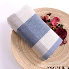 10 Piece Lattice Pure Cotton Plaid Bath Hand Towels Washcloth