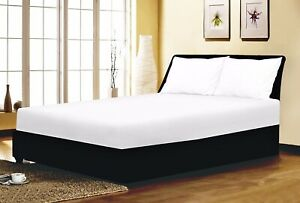 White Fitted Sheet Bed Sheet 100% Poly Cotton Superior Quality All Sizes