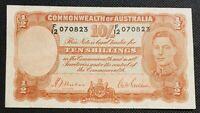 1939 Australia 1st 10 Shillings George VI R12 SHEEHAN/McFARLANE vF  F/12 070823