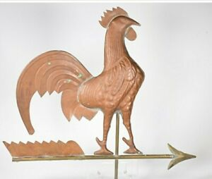 LG 3D Copper Rooster Weather Vane Topper