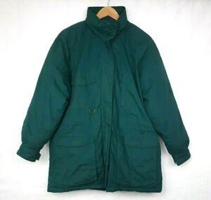 Eddie Bauer Mens Vintage Insulated Goose Down Puffer Jacket Parka Size L Blue