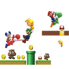 Cartoon Mario Wall Stickers 3D Decals Wallpaper Mural Art Poster Decor Boys Room