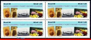 2203 BRAZIL 1989 PHOTOGRAPHY, 150 YEARS, PLANES, FLOWERS, MI# 2316, BLOCK MNH