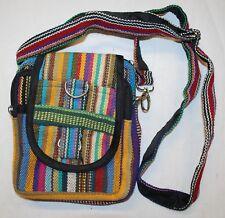 New Woven Cotton Passport Bag - Hippy Ethnic Fair Trade Festival Boho Shoulder