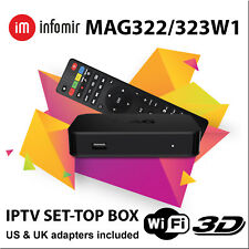 MAG 322w1 Infomir Media Streamer IPTV OTT WiFi SetTop Box Mag254 FREE SHIPPING