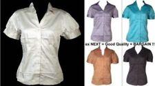 Maglie e camicie da donna aderente senza marca con colletto