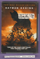 Batman Begins Christian Bale Katie Holmes DVD 2005 Two-Disc Deluxe Edition New