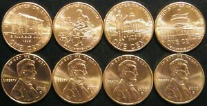2009 PD 8 Coin Set Satin Finish Lincoln Memorial Cents BU Penny's From US Mint