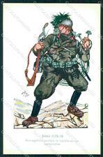 Militari WWI X Reggimento Bersaglieri Uniforme Mona cartolina XF6753