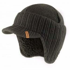 SCRUFFS WARM WINTER PEAK PEAKED BEANIE THERMAL INSULATED GRAPHITE GREY HAT CAP