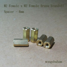 M2 Female x M2 Female Brass Standoff Spacer 8mm - 25 pcs