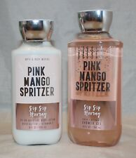 Bath & Body Works Pink Mango Spritzer Body Lotion & Shower Gel Set