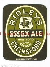 MINT RIDLEY CHELMSFORD ESSEX ALE BREWERY BEER BOTTLE LABEL REC