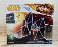 "Star Wars 3.75"" FORCE LINK 2.0 TIE FIGHTER W/PILOT Solo Movie New Sealed"
