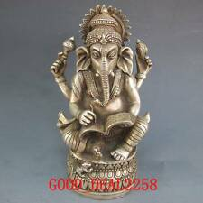 Tibetan Buddhism Tibetan Silver Elephant Trunk Mice The Exorcist Statue gd0250